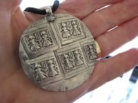 Antique Indian Amulet, Duo Goddess Devi