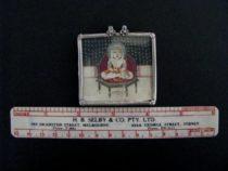 Antique Indian Miniature Pendant, Bala Krishna