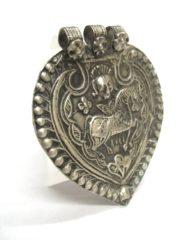 Antique Indian Amulet, Surya Sun Symbol
